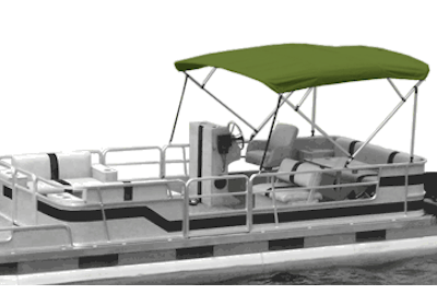 Green Pontoon Bimini Tops