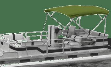 Sun Tracker Pontoon Boat Privacy EnclosurePop-Up Dowco Wheat