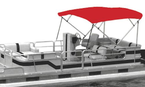 Red Pontoon Bimini Tops