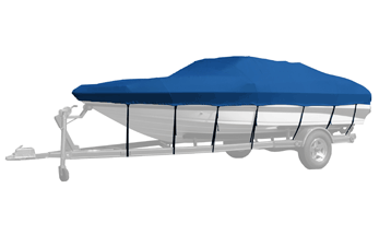 BLUE BOAT COVER FOR CHAPARRAL 215 XLC I//O 1989