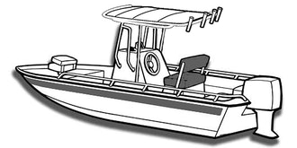 V-Hull Center Console Shallow Draft Fishing Boat with T-Top Covers
