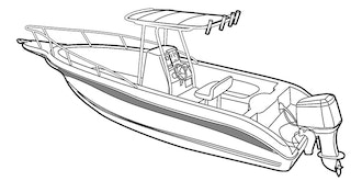 Walk Around Cuddy Boat with Hard Top Covers