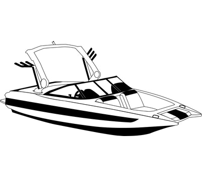 Tournament Ski Boats with Wide or Pickle Fork Bow Over-the-Tower Covers