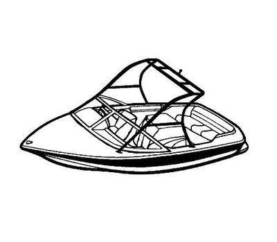 Tournament Ski Boat with Ski Tower Covers