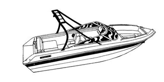 V-Hull Runabout Boat with Ski Tower Covers