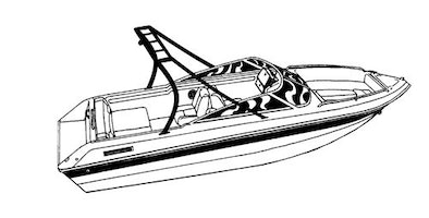 Semi-Custom Boat Cover for V-Hull Runabout with Ski Tower