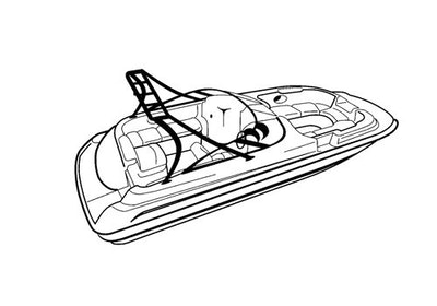 Deck Boat with Ski Tower Covers