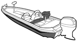 Angled Transom Boat Covers