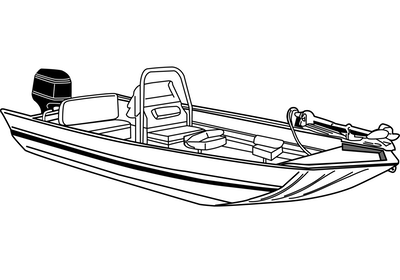 Modified V Jon Boat with High Center Console Covers