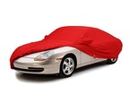 Red Form Fit Car Cover