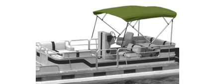 Green Pontoon Bimini Boat Top
