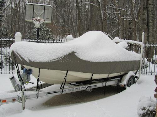 Boat Cover in Snow
