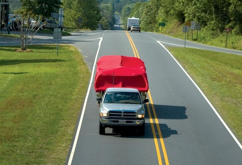 Pontoon Boat Cover Trailering