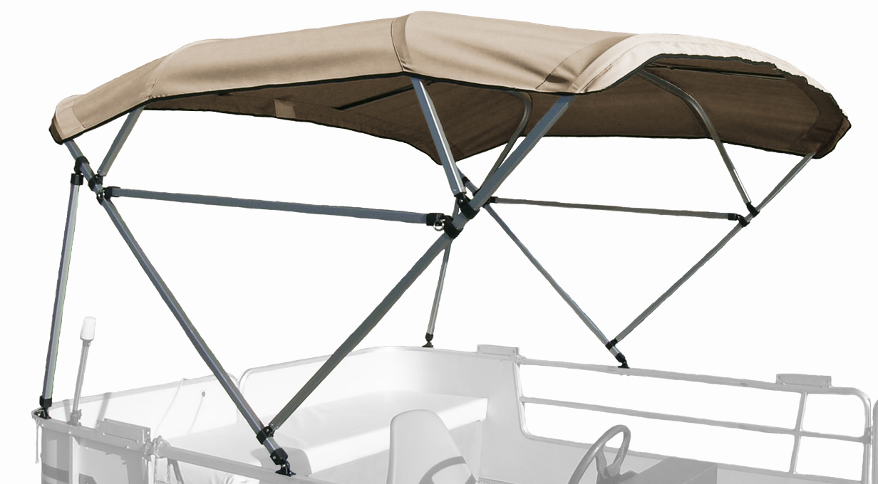 "BIMINI TOP BOAT COVER CANVAS FABRIC BLUE W//BOOT FITS 3 BOW 72/""L 36/""H 91/""-96/""W"