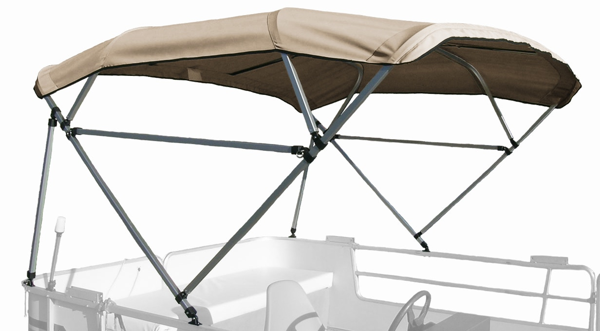 Carver Free Standing Pontoon Bimini Top in Beige