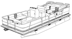 Pontoon with Fully Enclosed Deck Boat Covers