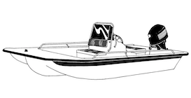 Center Console Bay Style Fishing Boat with Shallow Draft Hull Boat Covers