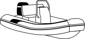 Blunt Nose Inflatable Boat with Center Console Covers