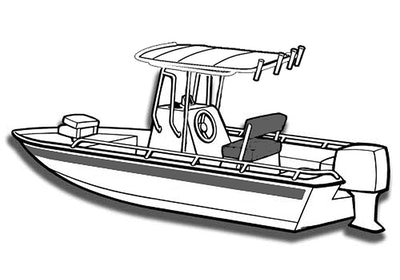 Bay Style Shallow Draft Fishing Boat with T-Top Covers