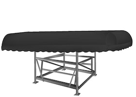 ShoreMaster Boat Lift Canopy Cover in Black