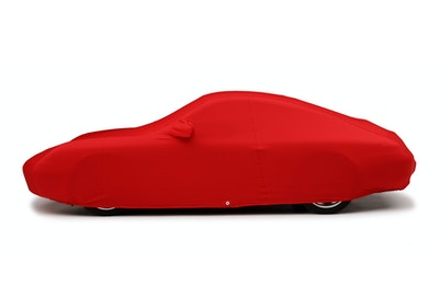 Porsche Custom Car Cover in Form-Fit Red