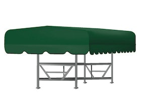 Floe Boat Lift Canopy Cover in Green
