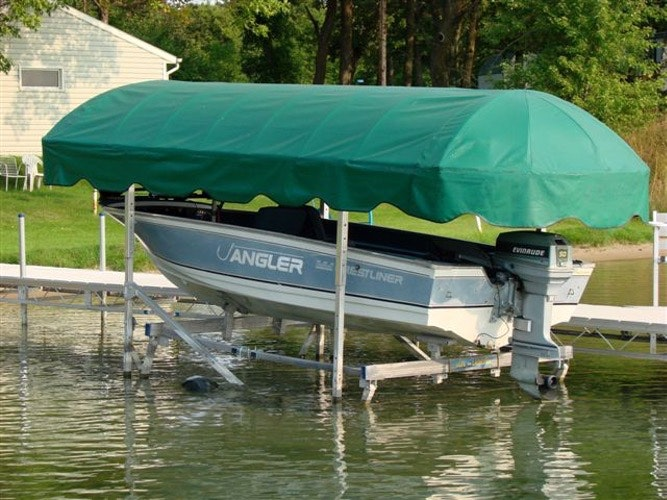 Newmans Boat Lift Canopy & Replacing Your Boat Lift Canopy Cover | CoverQuest