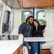 Couple Taking Selfie in RV