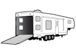 CoverQuest Fifth Wheel Toy Hauler RV Line Drawing