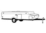 CoverQuest Folding Trailer/ Pop-Up Camper RV Line Drawing