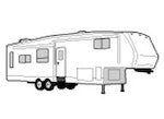 CoverQuest Fifth Wheel Trailer RV Line Drawing