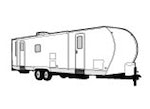 CoverQuest Travel Trailer RV Cover Line Drawing