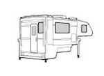 CoverQuest Slide In Truck Camper RV Camper Line Drawing