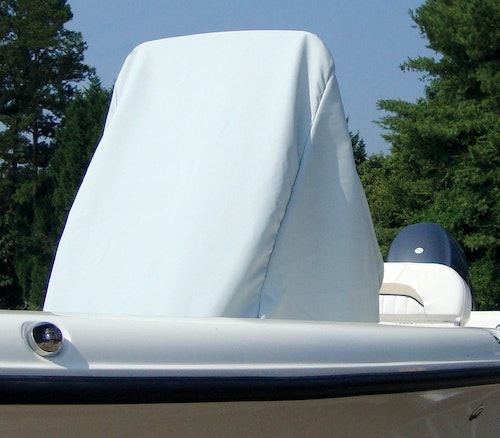 Center Console Cover by Carver Haze Gray