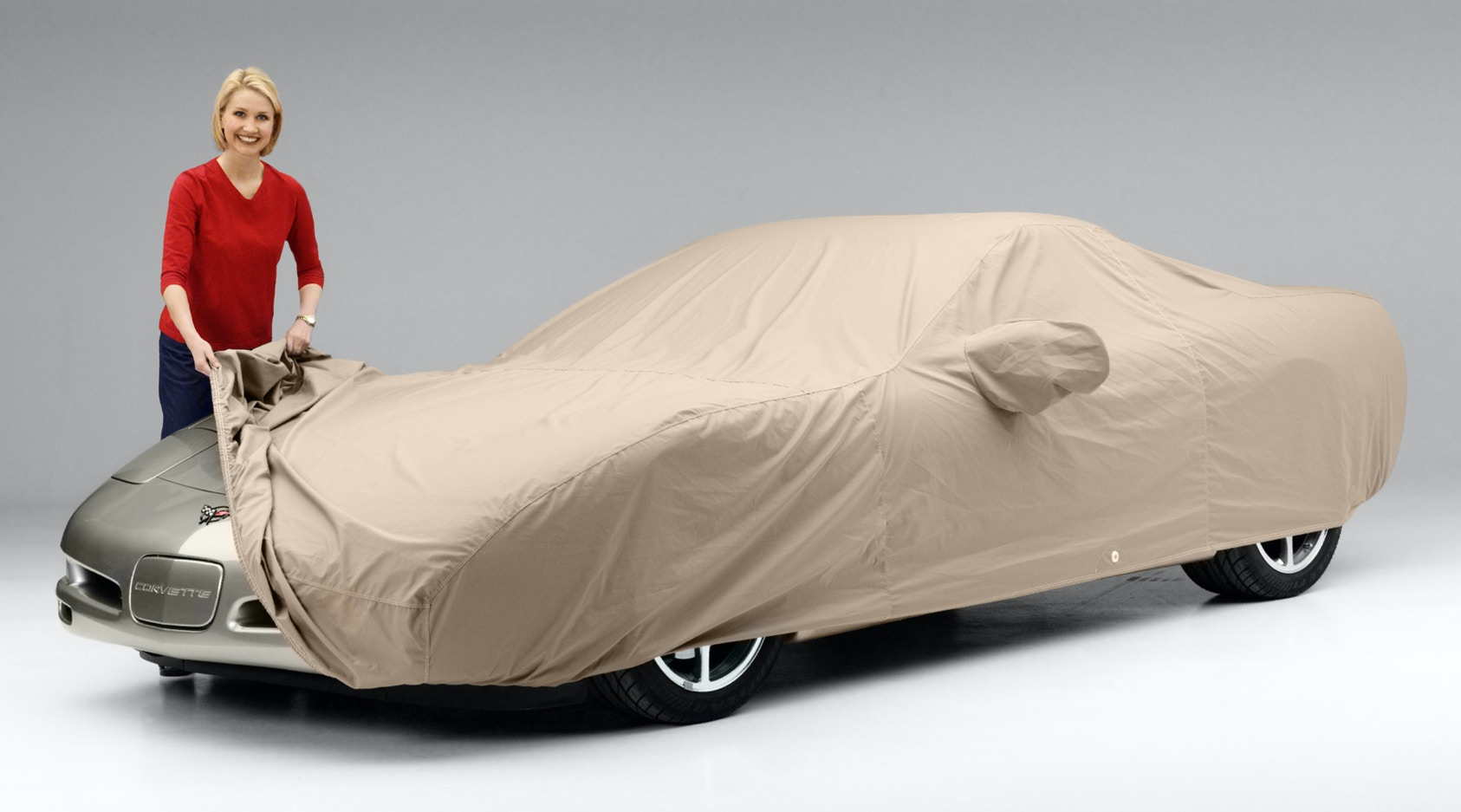 Correctly applying car cover to Corvette