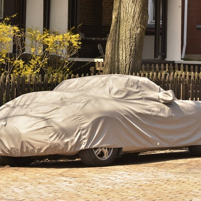 Sports Car protected with Car Cover