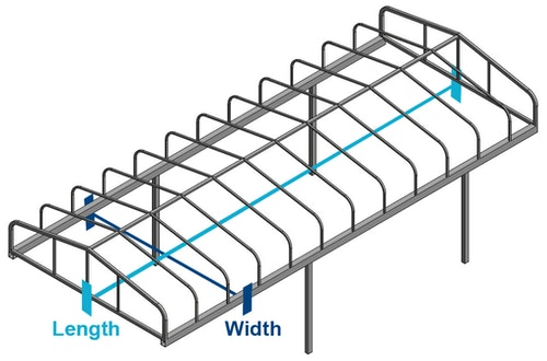 CoverQuest How to Measure Hewitt Boat Lift Canopy Cover