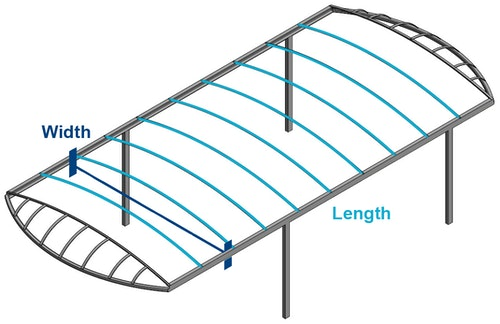 CoverQuest How to Measure Stainless Steel Shorestation Boat Lift Canopy Cover