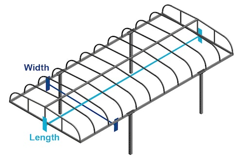 CoverQuest How to Measure Shoreline Boat Lift Canopy Cover